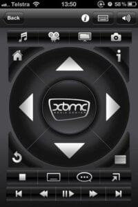 En esta foto podemos ver como funciona un iPhone como control remoto.