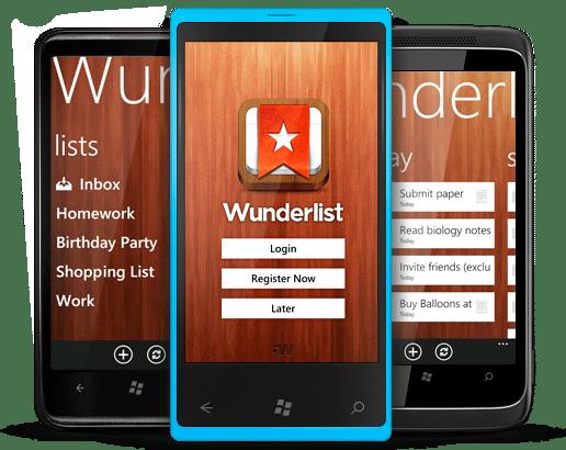Wunderlist para tareas sin fecha
