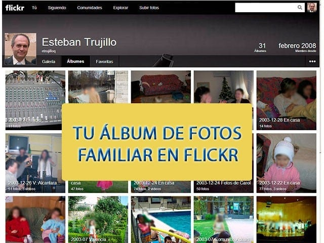 Tu álbum familiar en Flickr