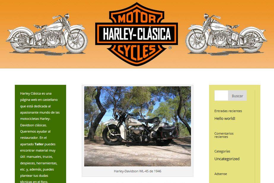 Web www.harleyclasica.es