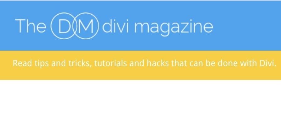 The Divi Magazine
