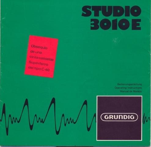 Grundig Studio 3010 - Manual