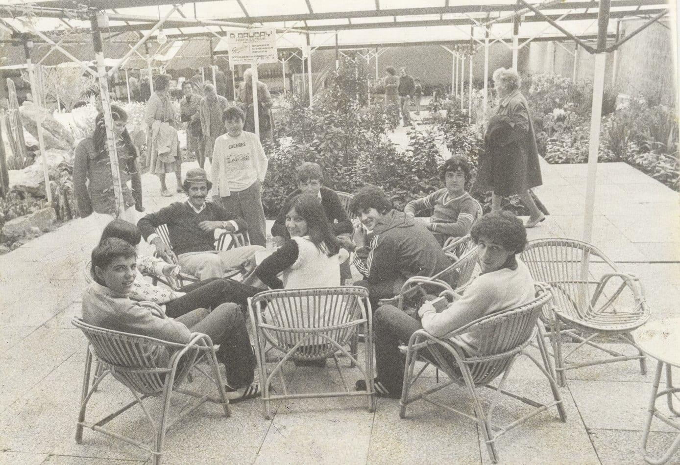 1978 - Francia intercambio con alumnos/as de La Roche Sur Yon. Anibal y Vela