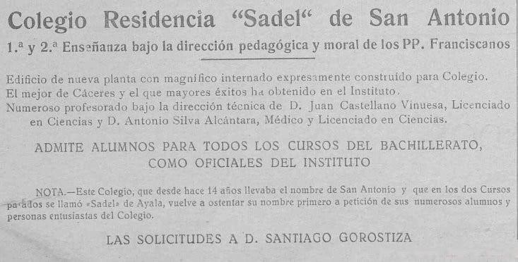 Anuncio de 1936