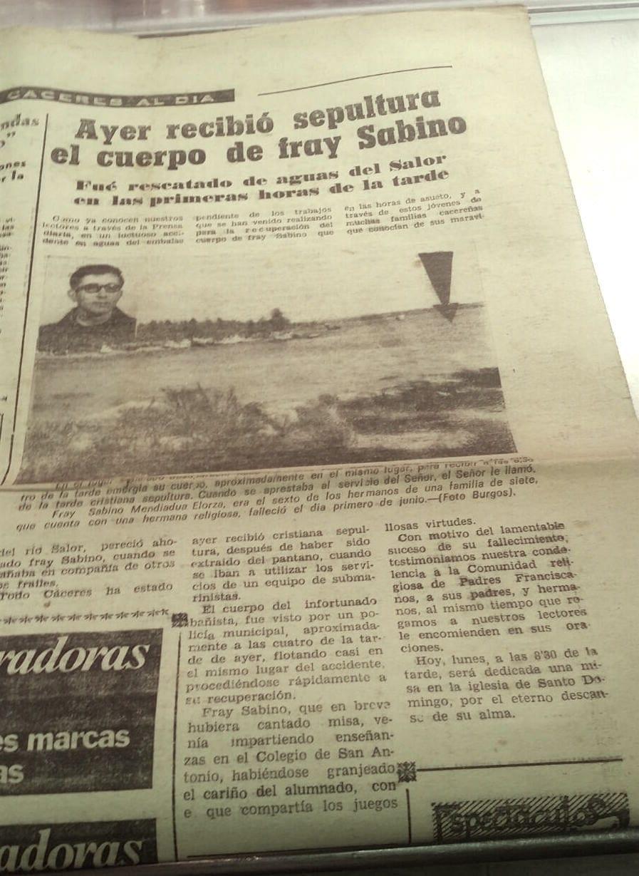 Fallecimiento Fr. Sabino