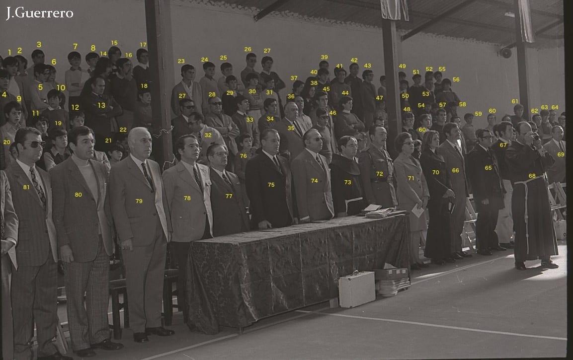 Inauguración Polideportivo en los años 70 - Colegio San Antonio