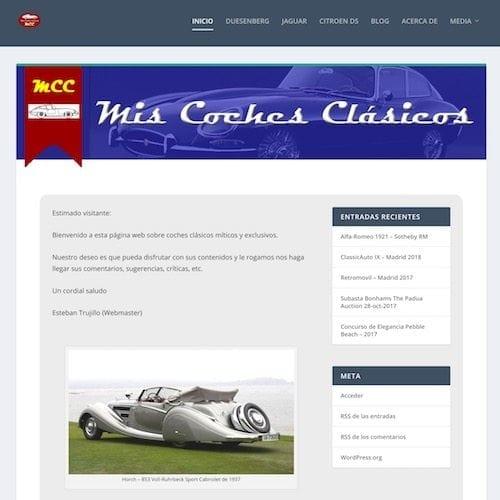 web miscochesclasicos.com