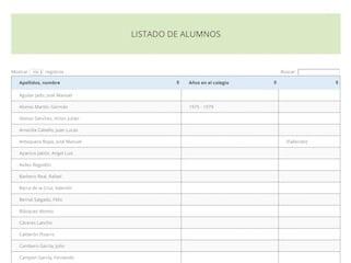 Colegio San Antonio de Padua - Listado alumnos