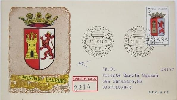 Cáceres - Sellos - Escudo