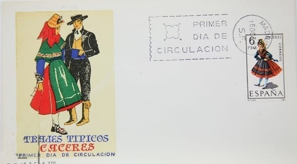 Cáceres - Sellos - Trajes regionales