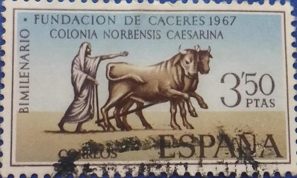 Cáceres - Sellos - 1967
