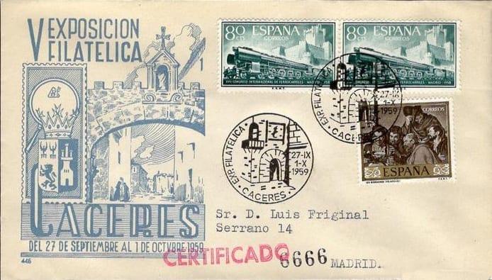 Cáceres - Sellos - V Exposicion Filatélica