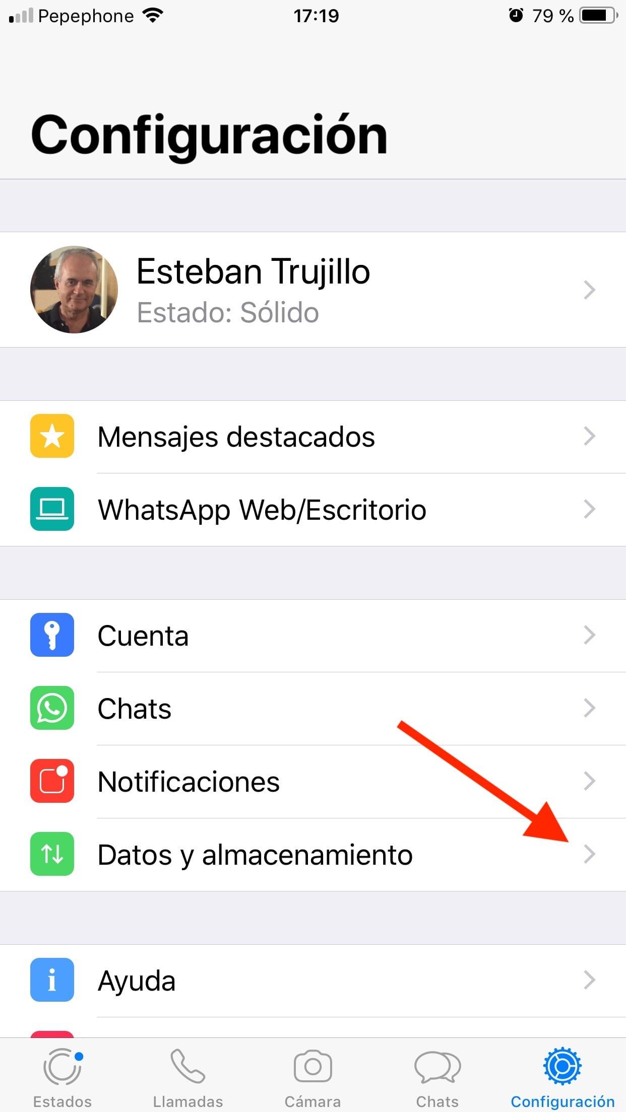 whatsapp - configuración