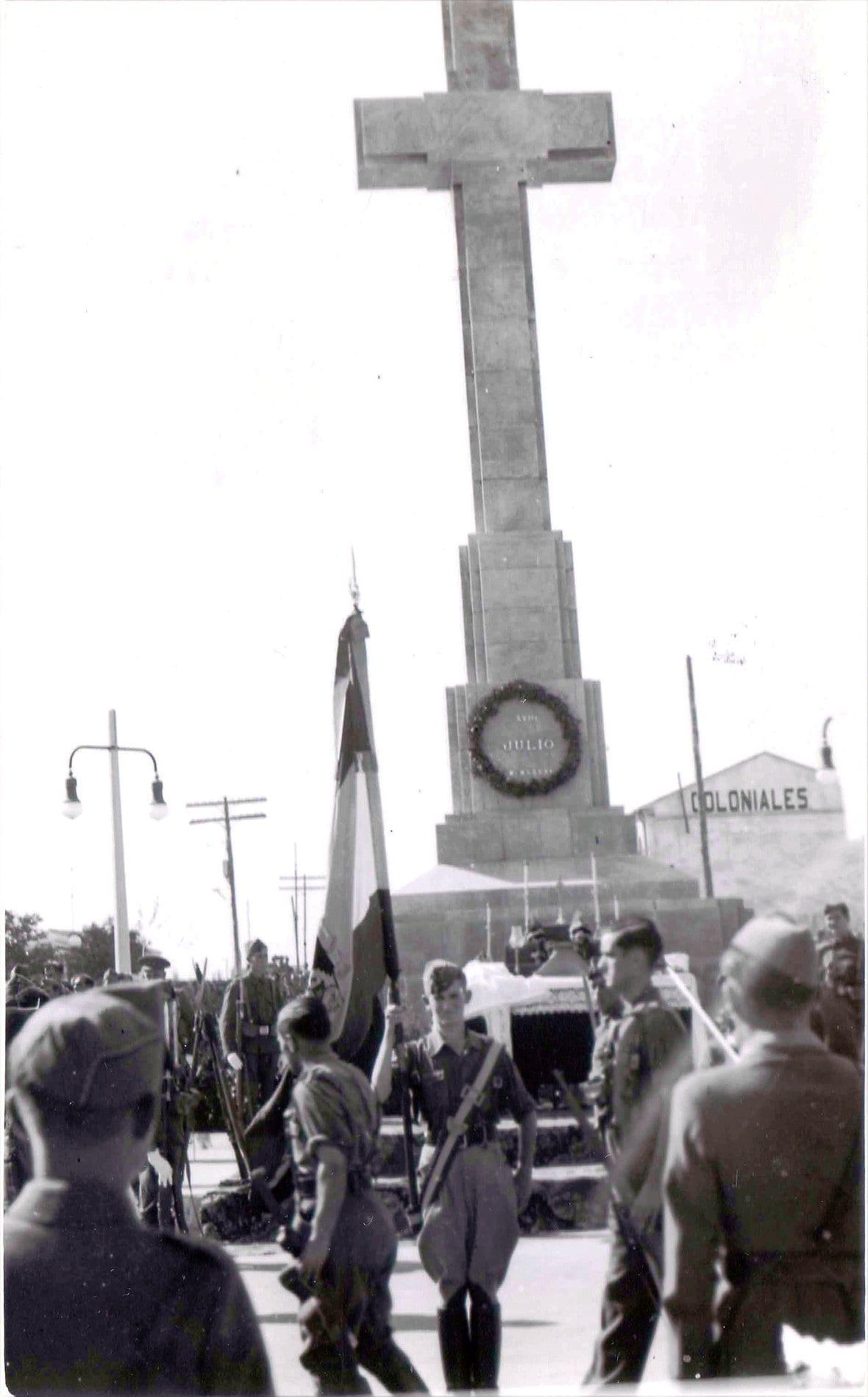 1938 - Inauguración de la Cruz de los Caídos de Cáceres