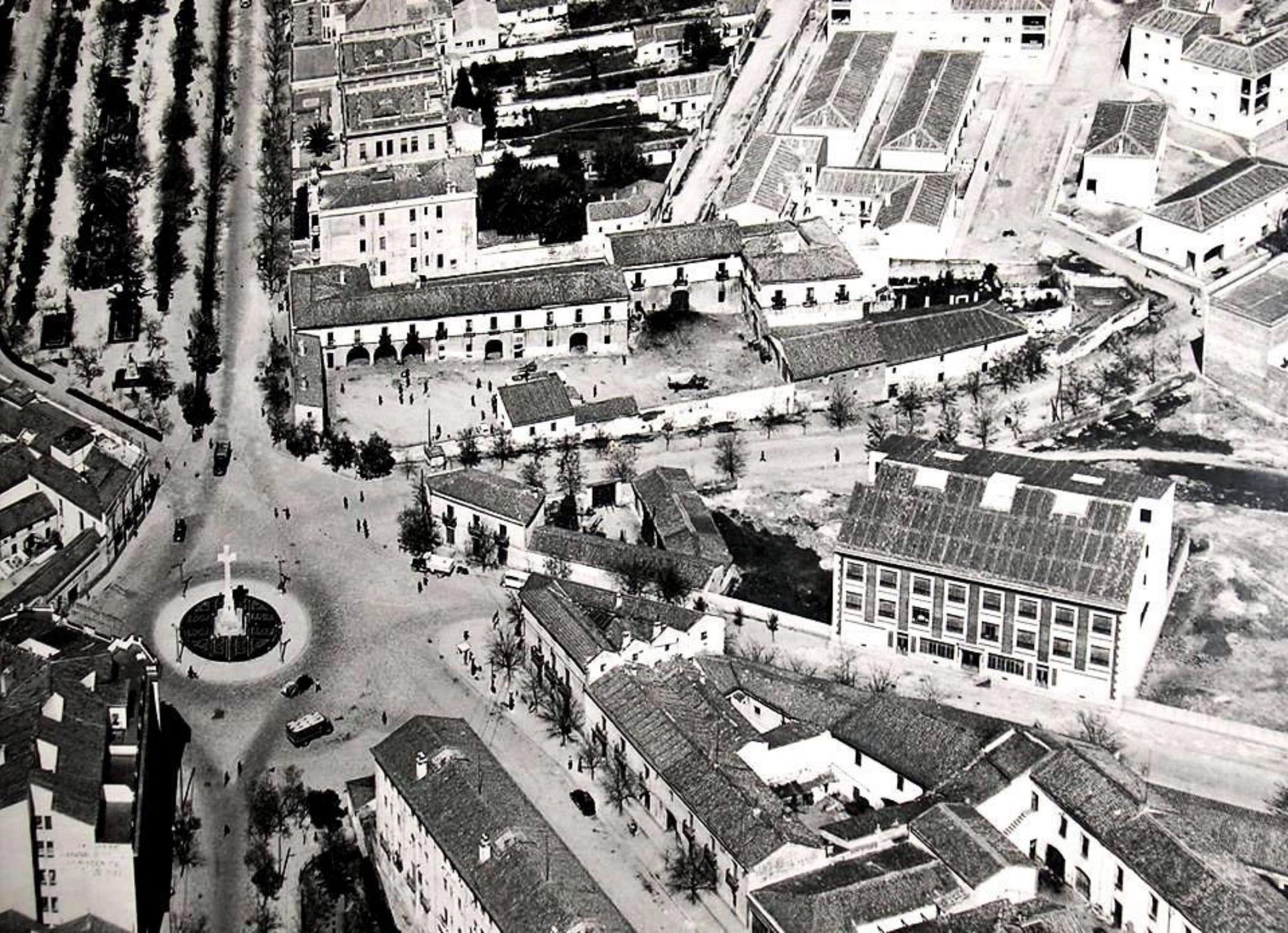 Imagen aérea de los años 50