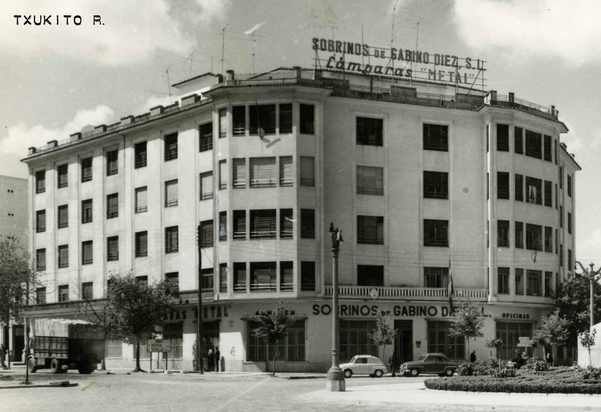 Edificio de Sobrinos de Gabino Diez en los 60