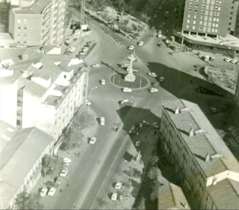 1979 - Vista aérea de la Plaza de América
