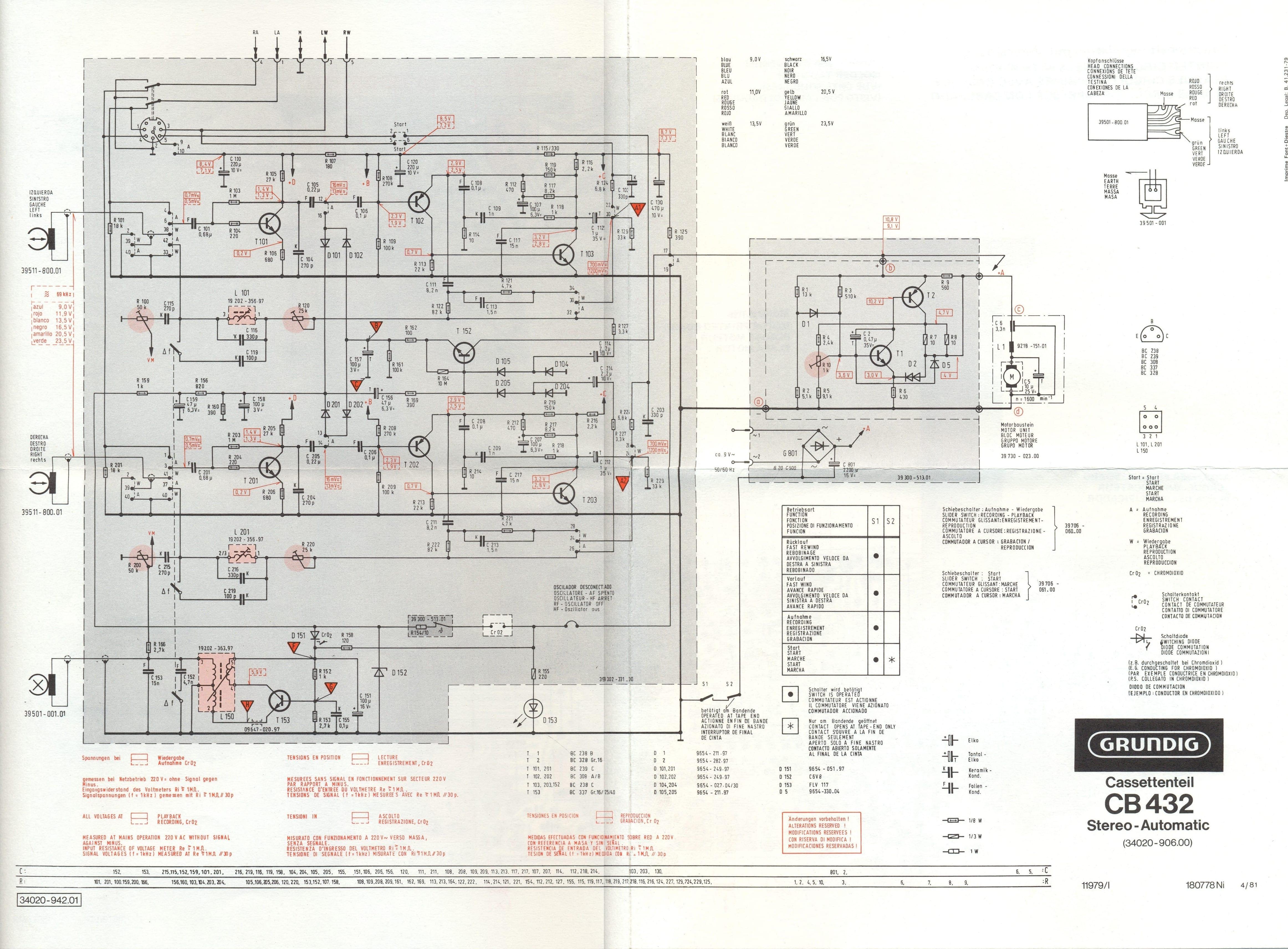 Grundig Studio 3010 - Cassette esquema ensamblado