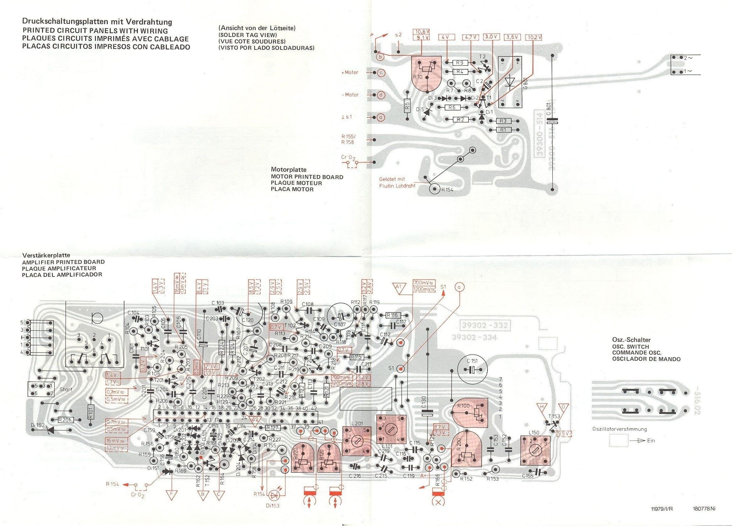 Grundig Studio 3010 - Esquema placa principal ensamblado