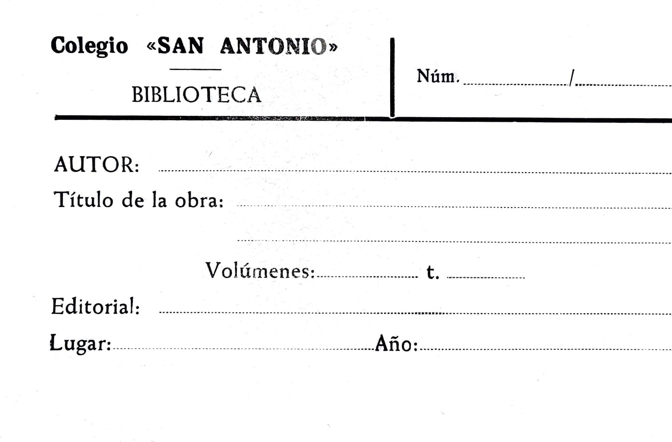 Ficha de la biblioteca