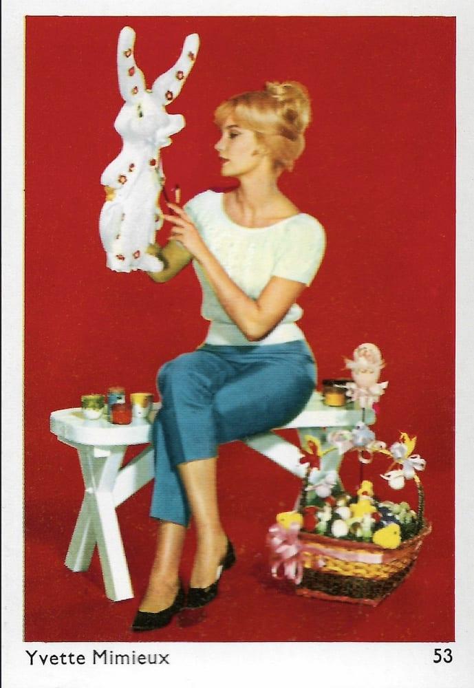 1960s - Tarjeta postal de Alemania - Yvette Mimieux