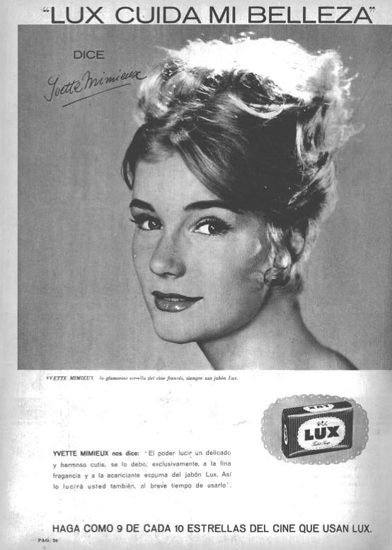1964 - Anuncio de jabón - Yvette Mimieux