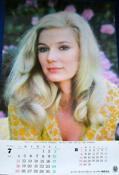 1965 - Calendario Japón - Yvette Mimieux