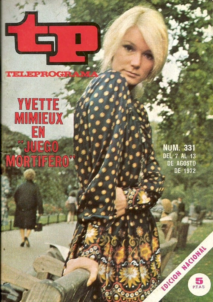 1972 yvette mimieux TP juego mortifero 1