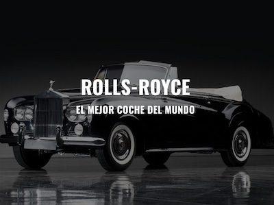 Rolls-Royce diseño Web